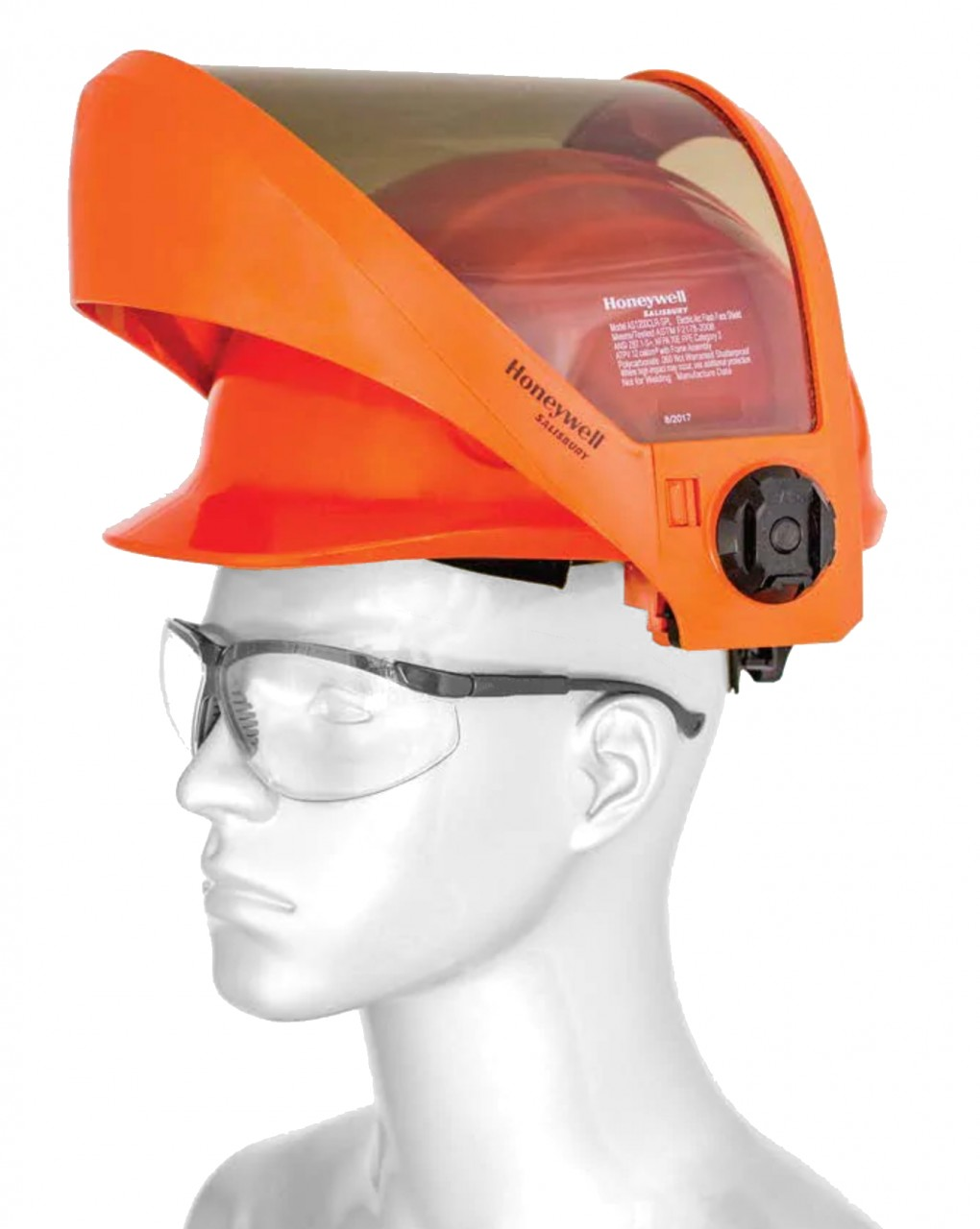 AS12G-CE, CE marked, grey tinted 12 cal arc flash helmet and visor