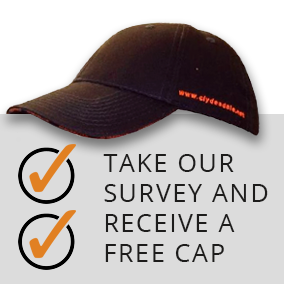 Take our Survey and receive a free cap